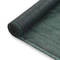 vidaXL Teniski zaslon HDPE 1,4 x 100 m zeleni