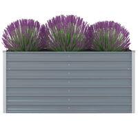 vidaXL Vrtna Visoka Posuda za Biljke 160x80x77 cm Pocinčani čelik Siva boja