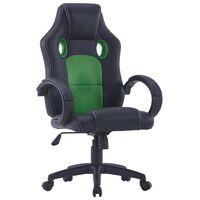 vidaXL Igraća stolica od umjetne kože zelena