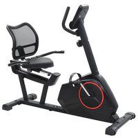 vidaXL Magnetski ležeći bicikl za vježbanje s mjerenjem pulsa