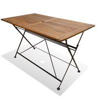 vidaXL Sklopivi vrtni stol od drvo akacije 120 x 70 x 74 cm