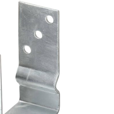 vidaXL Sidra za ogradu 2 kom srebrna 9 x 6 x 15 cm pocinčani čelik