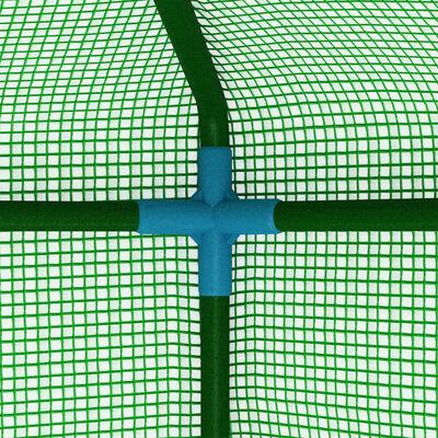 vidaXL Staklenik s čeličnim okvirom 0,5 m² 1 x 0,5 x 1,9 m