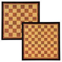 Abbey Game ploča za šah i damu 41 x 41 cm drvena smeđa/bež