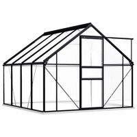 vidaXL Staklenik s okvirom antracit aluminijski 4,75 m²