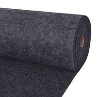 vidaXL Svečani tepih rebrasti 1,6 x 10 m antracit