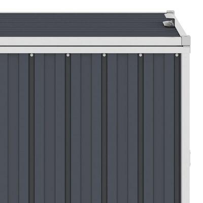 vidaXL Spremište za 3 kante za smeće antracit 213x81x121 cm čelično