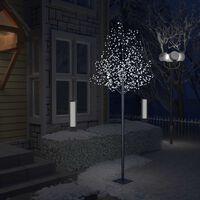 vidaXL Božićno drvce sa 600 LED žarulja hladno bijelo svjetlo 300 cm