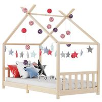vidaXL Okvir za dječji krevet od masivne borovine 90 x 200 cm