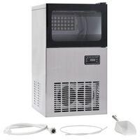 vidaXL Uređaj za pravljenje kocki leda 420 W crni 45 kg / 24 h