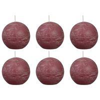 Bolsius rustične okrugle svijeće 6 kom 80 mm blijedo ružičaste