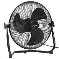 vidaXL Podni ventilator s 3 brzine 45 cm 60 W crni