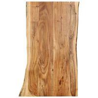 vidaXL Stolna ploča od masivnog bagremovog drva 100 x (50-60) x 2,5 cm