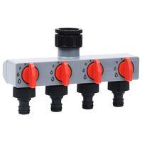 vidaXL Automatski vrtni tajmer za vodu s četverosmjernim ventilom