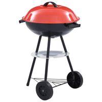 vidaXL Prijenosni roštilj XXL na drveni ugljen s kotačima 44 cm