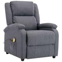 vidaXL Masažna fotelja od tkanine tamnosiva