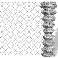 vidaXL Žičana ograda od pocinčanog čelika 15 x 1,5 m srebrna
