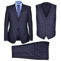 Muško poslovno odijelo u 3 komada, veličina 50, mornarski plavo