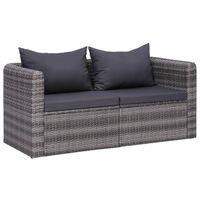 vidaXL Vrtne kutne sofe od poliratana 2 kom sive