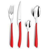 Amefa 24-dijelni pribor za jelo Eclat crveni