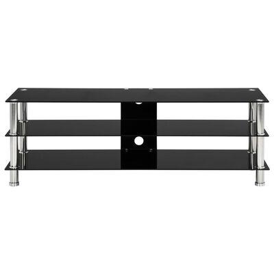 vidaXL TV stalak od kaljenog stakla crni 120 x 40 x 40 cm