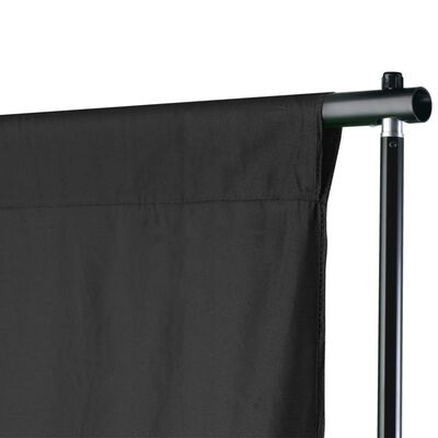 vidaXL Pozadinski sustav s potporom 500 x 300 cm crni