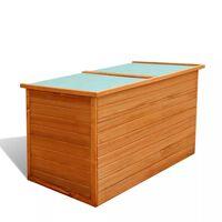 vidaXL Vrtna kutija za pohranu 126 x 72 x 72 cm drvena