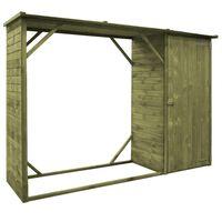 vidaXL Vrtno spremište za drva i alat od borovine 253 x 80 x 170 cm