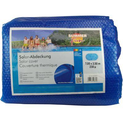 Summer Fun solarni pokrivač za ljetni bazen ovalni 700x350 cm PE plavi