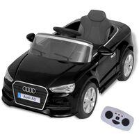 vidaXL Električni Autić sa Daljinskim upravljačem Audi A3 Crni