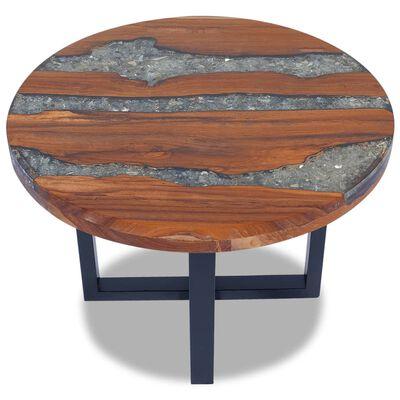 vidaXL Stol za Kavu Tikovina i Smola  60 cm