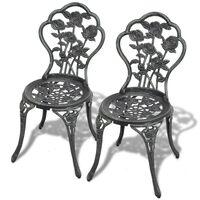 vidaXL Bistro stolice 2 kom lijevani aluminijum zeleni