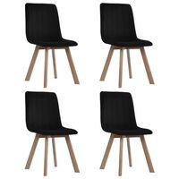 vidaXL Blagovaonske stolice 4 kom crne baršunaste