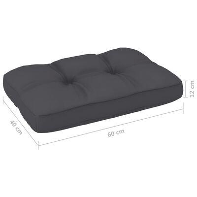 vidaXL Jastuk za sofu od paleta antracit 60 x 40 x 12 cm