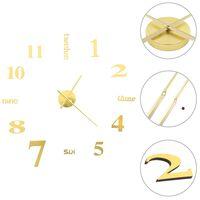 vidaXL 3D zidni sat moderni dizajn 100 cm XXL zlatni