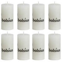 Bolsius rustične debele svijeće 8 kom 100 x 50 mm bijele