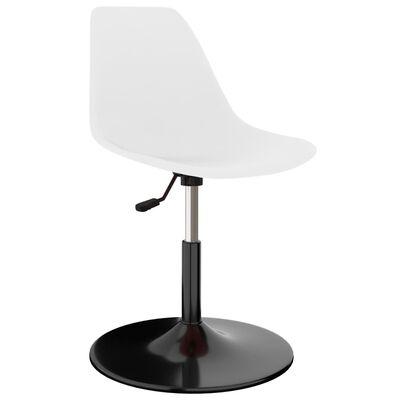vidaXL Okretne blagovaonske stolice 4 kom bijele PP