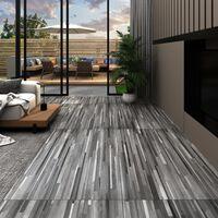 vidaXL Podne obloge od PVC-a 5,02 m² 2 mm samoljepljive prugaste sive