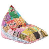 vidaXL Vreća za sjedenje od tkanine raznobojna s patchworkom