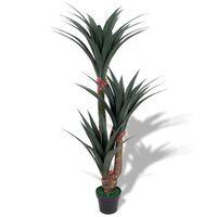 vidaXL Umjetna Yucca biljka s lončanicom 155 cm zelena
