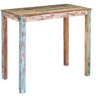 vidaXL Barski stol od masivnog obnovljenog drva 115 x 60 x 107 cm