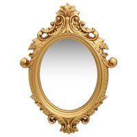 vidaXL Zidno ogledalo u dvorskom stilu 56 x 76 cm zlatno