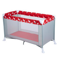 """Safety 1st Travel Cot """"Soft Dreams"""" Grey and Red"""