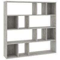 vidaXL Sobna pregrada / ormarić siva boja betona 110x24x110 cm iverica