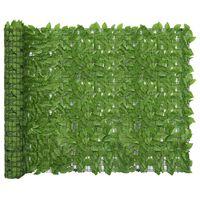 vidaXL Balkonski zastor sa zelenim lišćem 500 x 150 cm