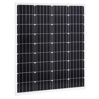 vidaXL Solarna ploča monokristalna 80 W aluminij i sigurnosno staklo