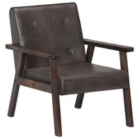 vidaXL Fotelja od prave kože siva