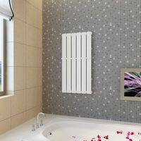 Bijeli radijator za kupaonicu s držačem za ručnike 465mm x 900mm