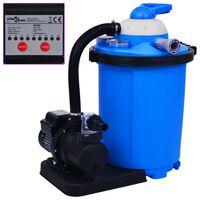 vidaXL Crpka s pješčanim filtrom i mjeračem vremena 550 W 50 L