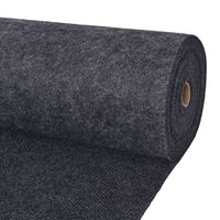 vidaXL Svečani tepih rebrasti 1,6 x 15 m antracit